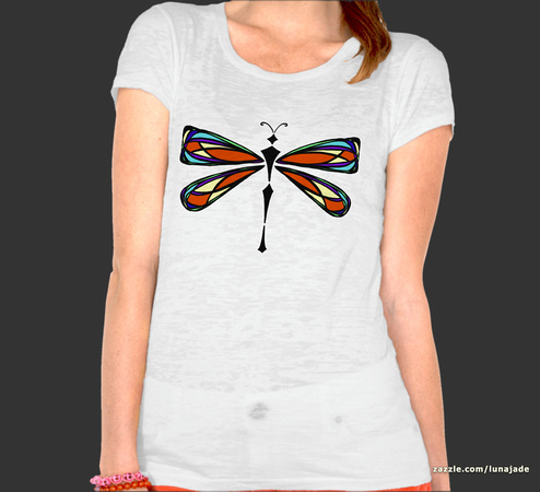 Stained Glass Dragonfly T-Shirt