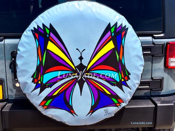 BatTerfly on a Bumper Close-up - artwork by Luna Jade ~ LunaJade.com
